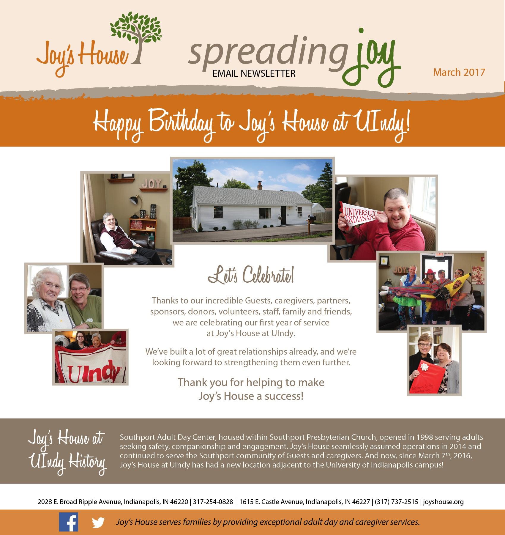 Spreading Joy March 2017